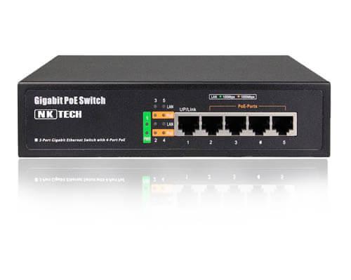 سوئیچ شبکه 4 پورت لایه 2 برند NKTech مدل PSE5604EX
