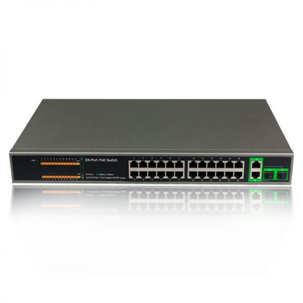 سوئیچ شبکه 24 پورت لایه 2 برند NKTech مدل PSE2624GSR
